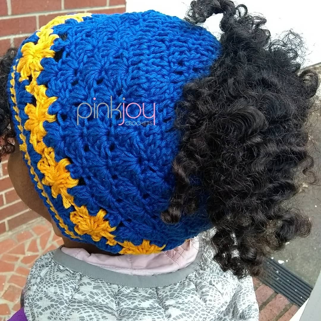 The Puff/Bun Beanie. It's getting cold. Regular beanies don't fit over puffs, ponytails, and buns very well. Here's the solution.  Order this crochet cotton, handmade beanie in your favorite or school colors today! $30