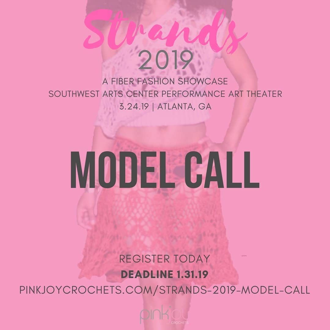 Tag your favorite runway models! Models Wanted for an Atlanta fashion show on March 24, 2019 at the Southwest Arts Center. In-person model calls will be held in February