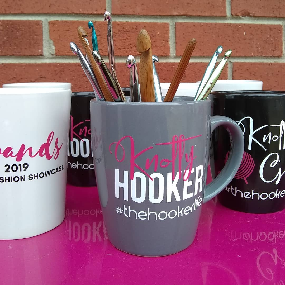 Are you a Knotty Hooker? I know I am. Get your mug today and tell the truth about yourself