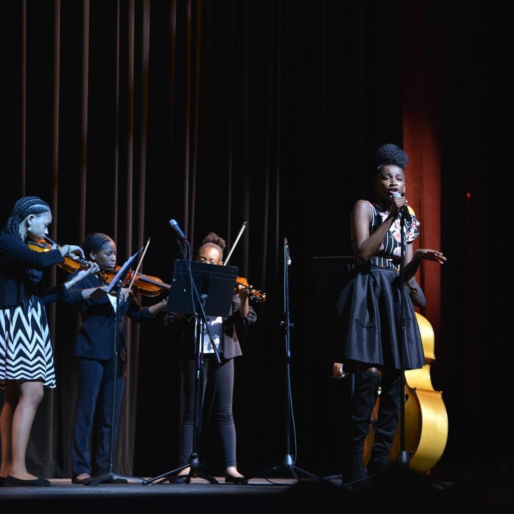The Crescendos performing at Strands 2019, A Fiber Fashion Showcase.  Photos by @iamtyrusdavis
