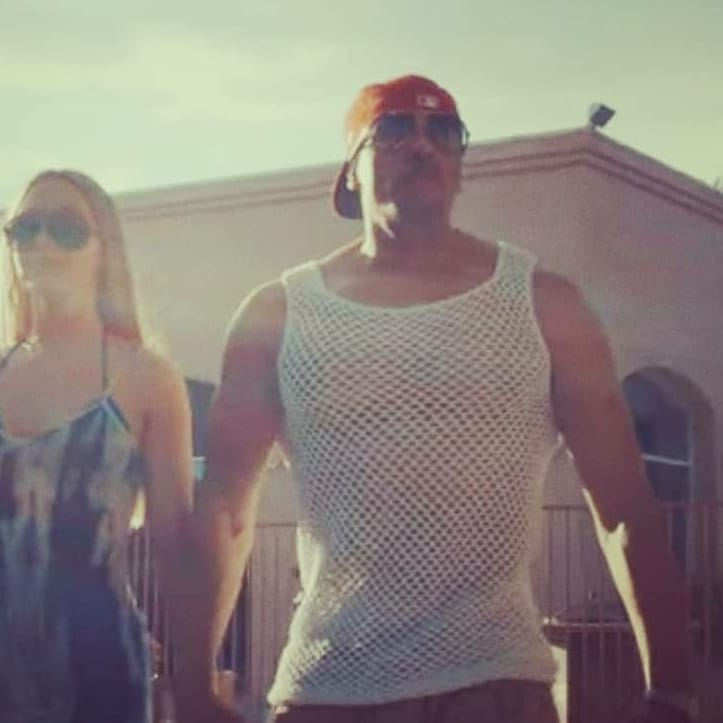 @ghasrizen wearing his G-Rod tank by @pinkjoycrochets in his new video for his hot new song 'In the Moment'. Stay tuned
