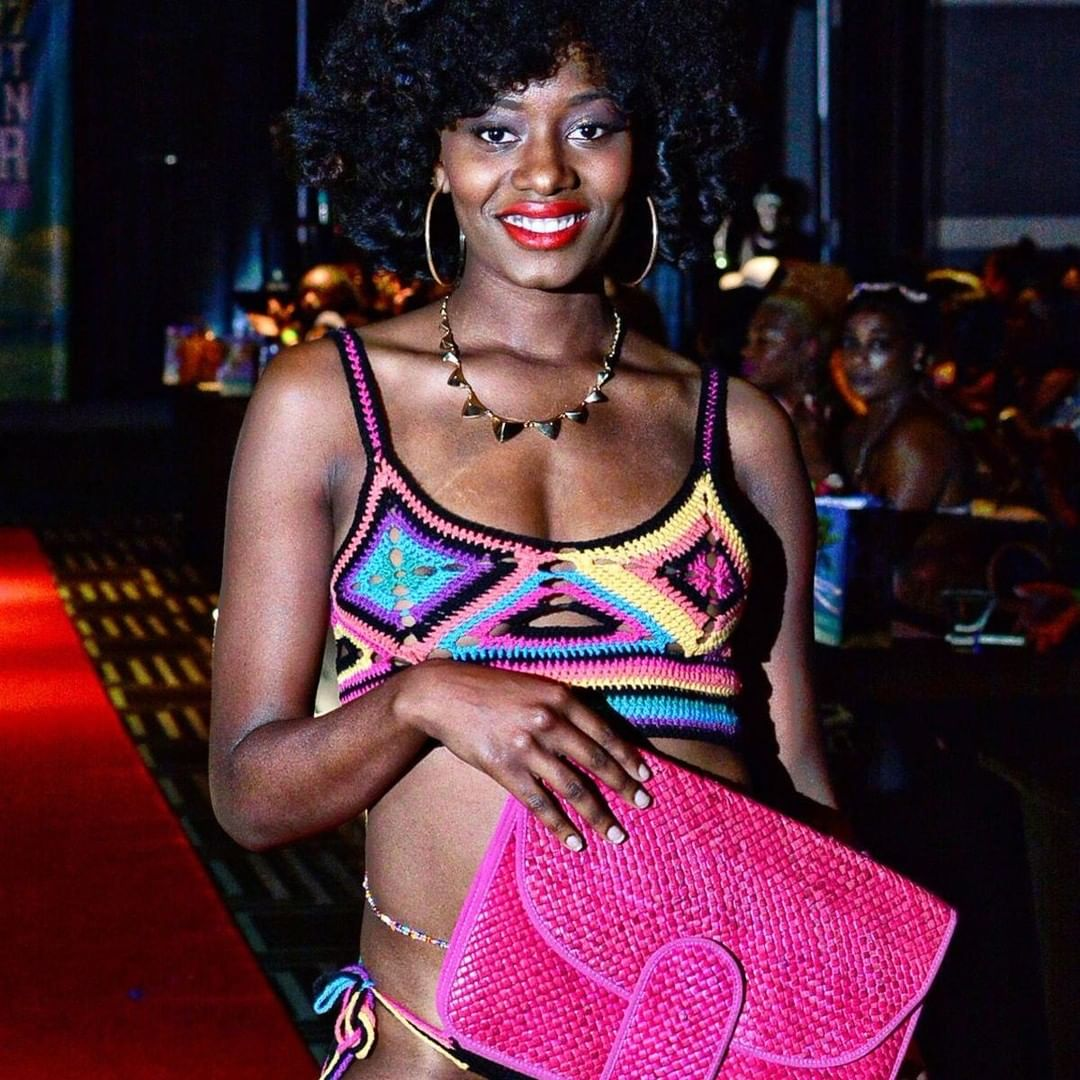 This is Ashari wearing the Donna bikini. One of my favorite pieces. But it got 'taken' from a fashion show… If anyone sees it, please let me know.  Photo by Ty Davis of @tdvisualarts and @the_atl_review