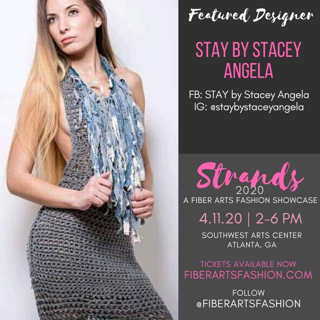 @staybystaceyangela returns to to showcase her exotic collection of. Follow her to see her line and come see the sexiness in person.⁠ ⁠ Visit https://www.fiberartsfashion.com. Follow @fiberartsfashion ⁠ ⁠ See you April 11, 2020.⁠ ⁠ Stay well.⁠ ⁠ Sponsored by @pinkjoycrochets @the.hookerlife <- Follow