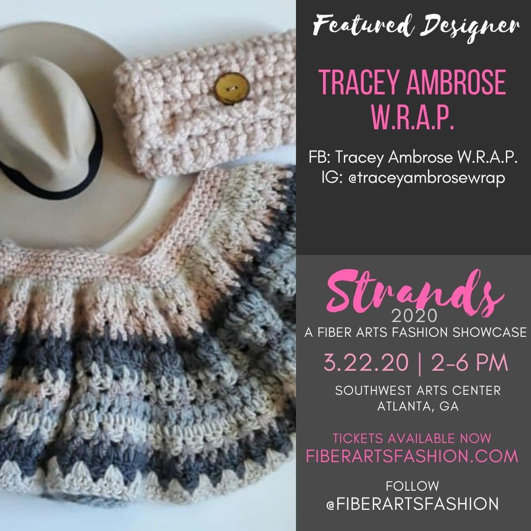 @traceyambrosewrap showcases at on 3.22.20, come out and support  Visit https://www.fiberartsfashion.com. (Link in bio) Follow @fiberartsfashion @pinkjoycrochets  See you March 22, 2020.  Stay well